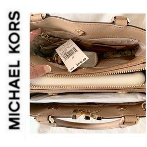 Michael Kors Bags - NWT authentic MK Florence leather satchel khaki